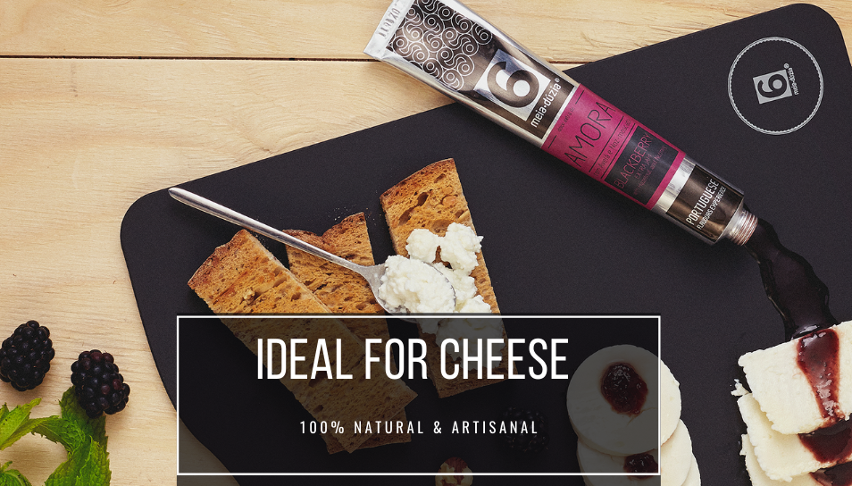 artisanal jams in tubes idela for fresh cheese . portuguese flavours